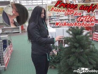 Fresse auf! !!Blasen für den ersten Weihnachtsbaum
